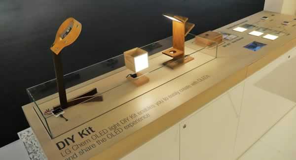 LG chem OLED Lighting DIY Kit examples